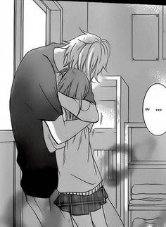Image about manga in Anime Couple ♥ by MONEY★かわいい♥ Romantic Anime Couples, Anime Couples Manga, Manga Anime, Anime Couples Cuddling, Anime Couples Sleeping, Anime Couples Hugging, Photo Manga, Image Couple, Namaikizakari
