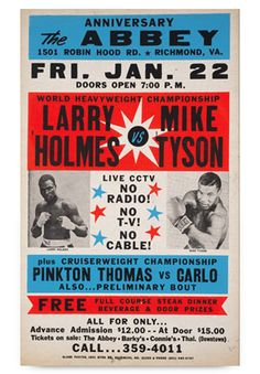 Boxing Gym, Boxing Workout, Boxing Fight Card, Mike Holmes, Muhammad Ali Boxing, Boxing Posters, Boxing History, World Heavyweight Championship, Boxing Champions