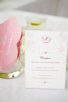 #menus Photography by alisonmayfield.com Wedding Planning by luxuryeventsphuket.com Floral Design by iamflower.biz  Read more - http://www.stylemepretty.com/2012/05/08/phuket-wedding-by-alison-mayfield-photography-studio/