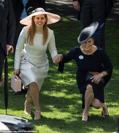 Fergie, pictured performing a curtsy to the Queen with her daughter Princess Beatrice at Royal Ascot has always spoken of her admiration for the monarch Duchess Of York, Duke Of York, Duke And Duchess, Duchess Of Cambridge, Eugenie Wedding, Eugenie Of York, Prince Harry And Meghan, Prince Andrew, Isabel Ii