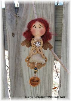 My Little Raggedy Blessings: Angel pocket star and stocking ornaments