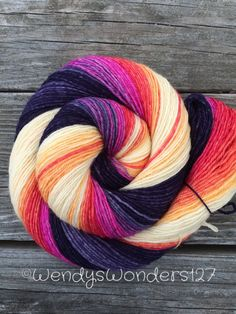 Hand Dyed Yarn Gradient Yarn Sock Yarn by WendysWonders127 on Etsy