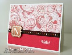 Monogram Card by Anne Gaal of Gaal Creative at http://www.gaalcreative.com - Feel free to re-pin! ♥