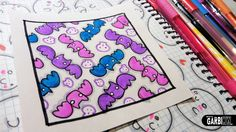 Cute Bats - How to Draw Patterns for your Doodles by Garbi KW