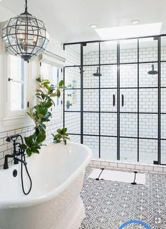 Magnificent Bathroom Design with Unique Shower Doors House Bathroom, Bathroom Interior, House Interior, Bathrooms Remodel, Amazing Bathrooms, Bathroom Decor, Shower Doors, Bathroom Design, Beautiful Bathrooms