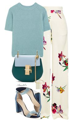 HER STYLE by aramarescobar on Polyvore featuring polyvore MaxMara Etro GUESS Chloé fashion style clothing