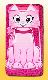 Kitty zippy sack--these would be awesome for bunks. Need to figure out how to make our own.