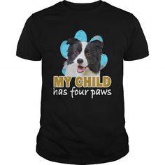 I Love Border Collie paws Shirts & Tees