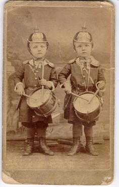Drummer boys. Cabinet card.