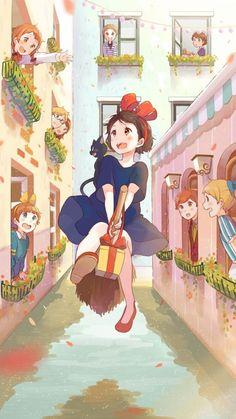 iPhone壁纸 萌物 可爱 背景 韩系 插画 素材 ╯з ︶ღ 麽麽