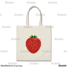 Our Fruit tote bags are great for carrying around your school & office work, or other shopping purchases. Tote Bags, Strawberry, Tote Bag, Totes, Strawberry Fruit, Strawberries, Strawberry Plant
