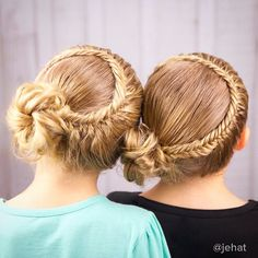 """Lace fishtail braids to messy bun inspired by @prettylittlebraids & twinning with the gorgeous Giovanna & Juliana from @mimiamassari  #twinshair…"""
