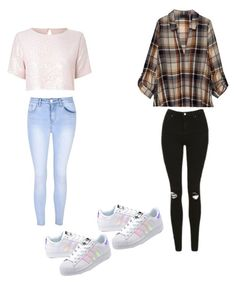 """""""lisa lena"""" by mbausaite ❤ liked on Polyvore featuring True Decadence, Glamorous, adidas Originals, Topshop and Bobeau"""