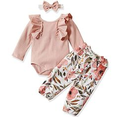 Newborn Girls Clothes Plaid Top Bermuda 2 Ps Set Size 3//6 6//9 Months Young Heart