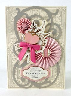 © Anna Griffin, Inc. All About Love Card Making Kit. This beautiful kit is full of romantic card surfaces, layers, sentiments and stickers perfect for wishing the special person in your life a happy Valentine's Day or anniversary.