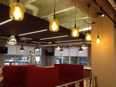 Used the vessel glass feature pendant @decodelondon #office_lighting
