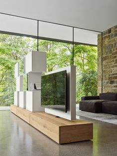 Best Simple Modern TV Stand Design Ideas for Your Home . Best Simple Modern TV Stand Design Ideas for Your Home Tv Stand Modern Design, Tv Stand Designs, Modern Tv, Modern Room, Modern Living, Tv Stand Ideas For Small Spaces, Tv Stand Room Divider, Swivel Tv Stand, Wooden Tv Stands