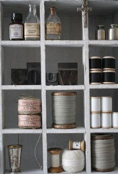 grey shelves | vintage threads | pretty objects: