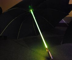 Star Wars Lightsaber Umbrella / tep out in a storm like a true Jedi while you carry the Star Wars Lightsaber Umbrella. http://thegadgetflow.com/portfolio/star-wars-lightsaber-umbrella/