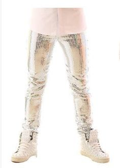 Sequined tuxedo jacket vest pants male jacket blazer male costume dancer singer dress performance show nightclub slim star suit Tuxedo Jacket, Blazer Jacket, England Fashion, Shop Usa, Skinny Pants, Clubwear, Night Club, Singer, Costumes