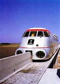 The Aérotrain was a Hovertrain developed in France from 1965 to The project was abandoned in 1977 due to lack of funding, the death of lead engineer Jean Bertin, and the adoption of TGV by the French government. Locomotive, Orient Express Train, Automobile, Rail Train, High Speed Rail, Rail Transport, Bonde, Old Trains, Speed Training