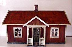 1:12th miniature scale Swedish dollhouse stuga (summer cottage)