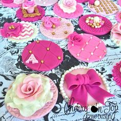 Vintage Tea Party Birthday Cupcake Toppers Vintage Tea Party Birthday Cupcake Toppers * #featured-cakes #mothers-day #tea-cup #teapot #tea #teacup #cakecentral