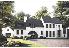 modern tudor exterior French Country Exterior, Modern French Country, Modern Farmhouse Exterior, Exterior Paint, Exterior Design, Interior Design Courses Online, Old House Dreams, Home Pictures, Window Design