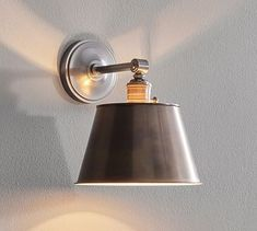 PB Classic Sconce, Tapered Metal Hood, Set of 2, Bronze, w/ Bronze Sconce Kit