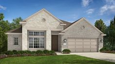 Sicily B Elevation with the addition of part stone by Taylor Morrison Crystal Falls Mesa Oaks