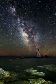 milky way  above Almeria  Spain