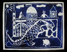 Mój pierwszy linoryt... My first linocut, Kraków (Cracow), linocut 1995  #linocut #linoryt #print #printing #druk #drukowanie #uljado