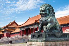 Die Verbotene Stadt in Peking / China