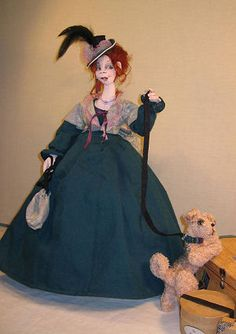 """PATTERN /""""PERCIVAL PONCE/"""" BY SHARON MITCHELL *NEW* CLOTH ART DOLL PAPER"""
