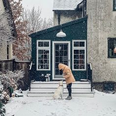 Wintry weather at our English Tudor house in St. Paul, MN