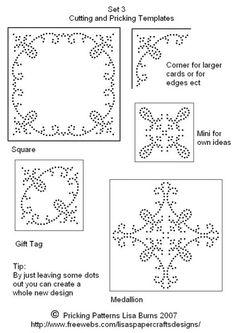 Stitching Cards/Pin Pricking Patterns
