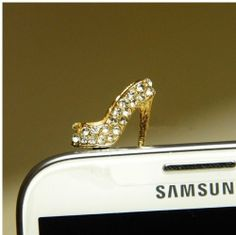 fashionlol's save of Big Mango Fashion Crytsal Diamond Rhinestone Womens High Heel Shoes 3.5mm Headphone Jack Accessories Anti Dust Plug Ear Cap Stopper for Iphone 5,4,4s,ipad 2,ipad 3,ipad 4,ipad Mini,ipod Touch ,Samsung Galaxy S2 S3 S4 Note 2 HTC , Blackberry (Silver) on Wanelo