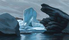 Erin McGuire : More Iceland studies! Environmental Art, Beautiful Artwork, Iceland, Childrens Books, Photo Art, History, Illustration, Artist, Outdoor