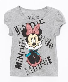 Look at this #zulilyfind! Minnie Mouse Thinking Tee - Toddler by Minnie Mouse #zulilyfinds