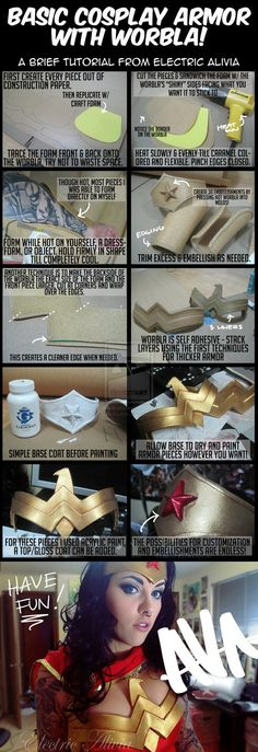 For if I ever do a Wonder Woman costume Cosplay armor with Worbla by Electricalivia
