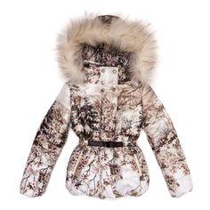 Jakioo udsalg børnetøj Vinterjakke med hætte og pelskant tilbud børnetøj