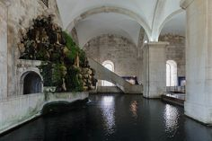 Go to the Water Museum, one of the Lisbon Museums you should visit. Portugal, Country, Places, Travel, Museums, Google, Lisbon, Sidewalk, Monuments