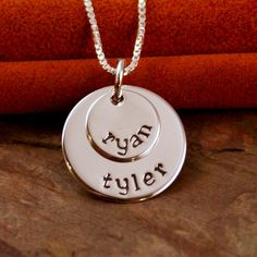 Hand Stamped Mommy Jewelry   by IntentionallyMe, $36.00