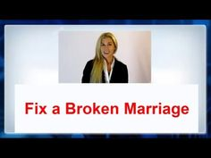 Fix a Broken Marriage without counseling - WATCH VIDEO HERE -> http://bestdivorce.solutions/fix-a-broken-marriage-without-counseling    SAVE YOUR MARRIAGE STARTING TODAY (Click for more info…)   Find out how to fix a broken marriage without advice and save the relationship 💖-► ◄- Of arguments and conflict in love, passion and cooperation. Do not give up, there are tons of resources that can help you solve...