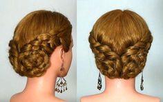 Прическа с плетением на каждый день. Braided hairstyle for every day, via YouTube.