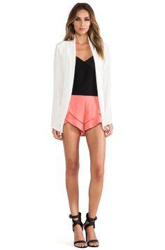 Silk Blazer w/ coral n black
