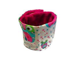 Snood fille (écharpe en forme de tube à enfiler) coton et polaire - motifs souris multicolores