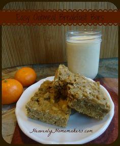 easy oatmeal breakfast bars via heavenly homemakers