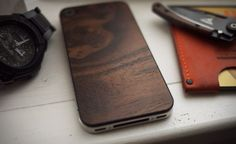 mahogany back panel for iphone 4S, thanx MaterialSix