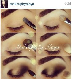Might have a project next week, try out this Arabic style makeup